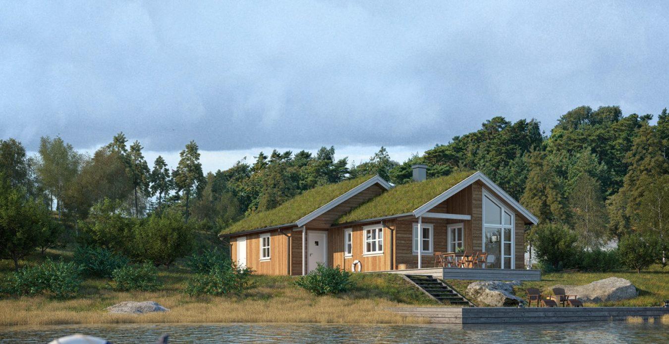 Bjørnestad 1 er en hytte fra Systemhus som våre forhandlere over hele landet kan bygge for deg. Bjørnestad 1 er vår typiske fjellhytte med praktisk innredning og fin bo komfort. Lys og stor stue med kjøkkenkrok. Godt utnyttet hems med 2 soverom.