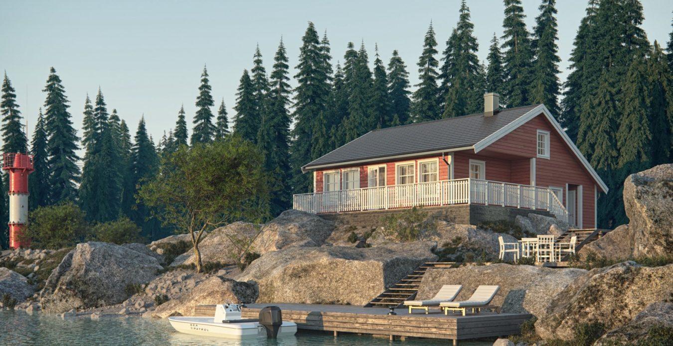 Ramsvik er en hytte fra Systemhus som våre forhandlere over hele landet kan bygge for deg. Ramsvik er tilpasset for å ligge fint i terrenget. Stor stue med utgang til terrasse. 3 gode soverom, bad, vaskerom og boder på hovedplan. Hems med spennende muligheter. En komfortabel hytte - ved sjøen eller på fjellet.