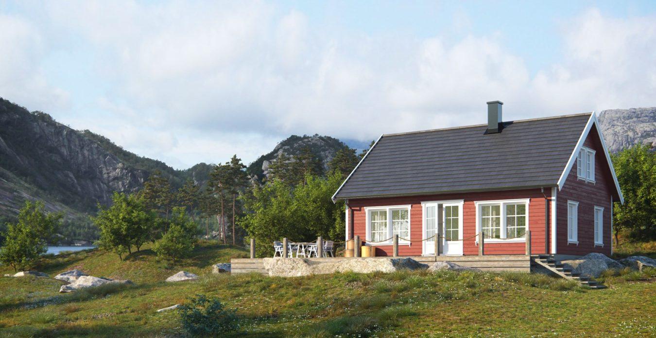 Sørlandshytten 2 er en hytte fra Systemhus som våre forhandlere over hele landet kan bygge for deg. Koselig hytte i typisk sørlandsstil. Sørdalshytten er en hytte med særpreg, bygget på gode norske tradisjoner. Meget innholdsrik, god familiehytte i høy klasse.